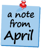 A Note from April (blue)