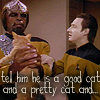 ST tng Data Spot and Worf