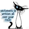 Cats: excitement