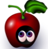 apple with eyes