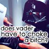 near misses and random shoes: [star wars] angry Vader