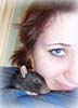 a girl & her rat