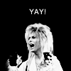 I'm Jack Sparrow's jar of dirt. [Don't touch me!]: Labyrinth | Jareth says YAY!