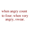 when very angry swear