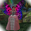 Fae kitty of Roses and Columbine, on Secondlife: Pink gown