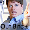 Barrowman: out bitch! (rheasilvia9)