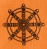 dharma wheel ochre