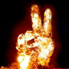 juliet316: Fire: Peace sign
