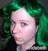 Green hair - hey now - wildebeth