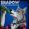 shadow beer cider drunk drinking furry w