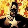 Kier, the Searcher: Captain America 04 in flames