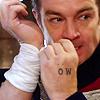Ow - Cap'n John bandaging hand