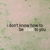 twilight // how to be close to you