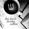 STOCK the devil drinks coffee