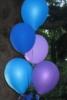 b'lue balloons
