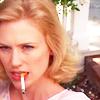 thespyglass: a: madmen: betty badass smoke