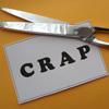 lies, crap, dishonesty, cut the crap, scissors