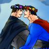bradygirl_12: superman--batman (flower crowns 1)