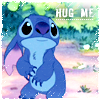 The answer with a question mark: stitch - hug me