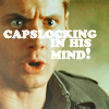The one with the weird sense of humor: CAPSLOCKING in his mind