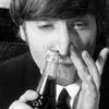 Lennon sniffing Coke