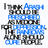 arashi depression rainbows snark