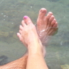 zarniwhooper: dangling toes above the water