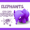 novita: Bones Elephants Purple