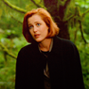 scully: exasperated in the forest