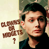 supernatural - clowns or midgets