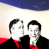 stewart and colbert are made of awesome
