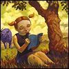 Pam McNew: beneath the tree; reading