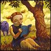 Pam McNew: beneath the tree; reading