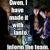 Kelly: made with ianto