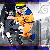 Naruto helping Sasuke