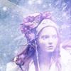 pretty victorian lady snow