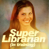Super Librarian Cordy peppy and grinning