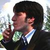Chris smokes