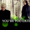 Draco Snape too late