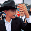 Barack in a hat