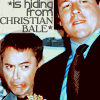 hiding from christian bale