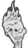 head in fire