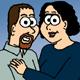 Cartoon, Thomas, Kristi