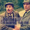 sherlock holmes - scared