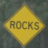rocks, roadsigns