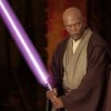 patron saint of neglected female characters: purple lightsaber yay!
