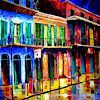 French Quarter at Night by Diane Millsap