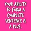 complete sentences prz