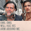 Tiffany: POTC: Will has his arm around me!
