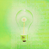 lightbulb and green background